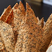 sesame crackers in a can