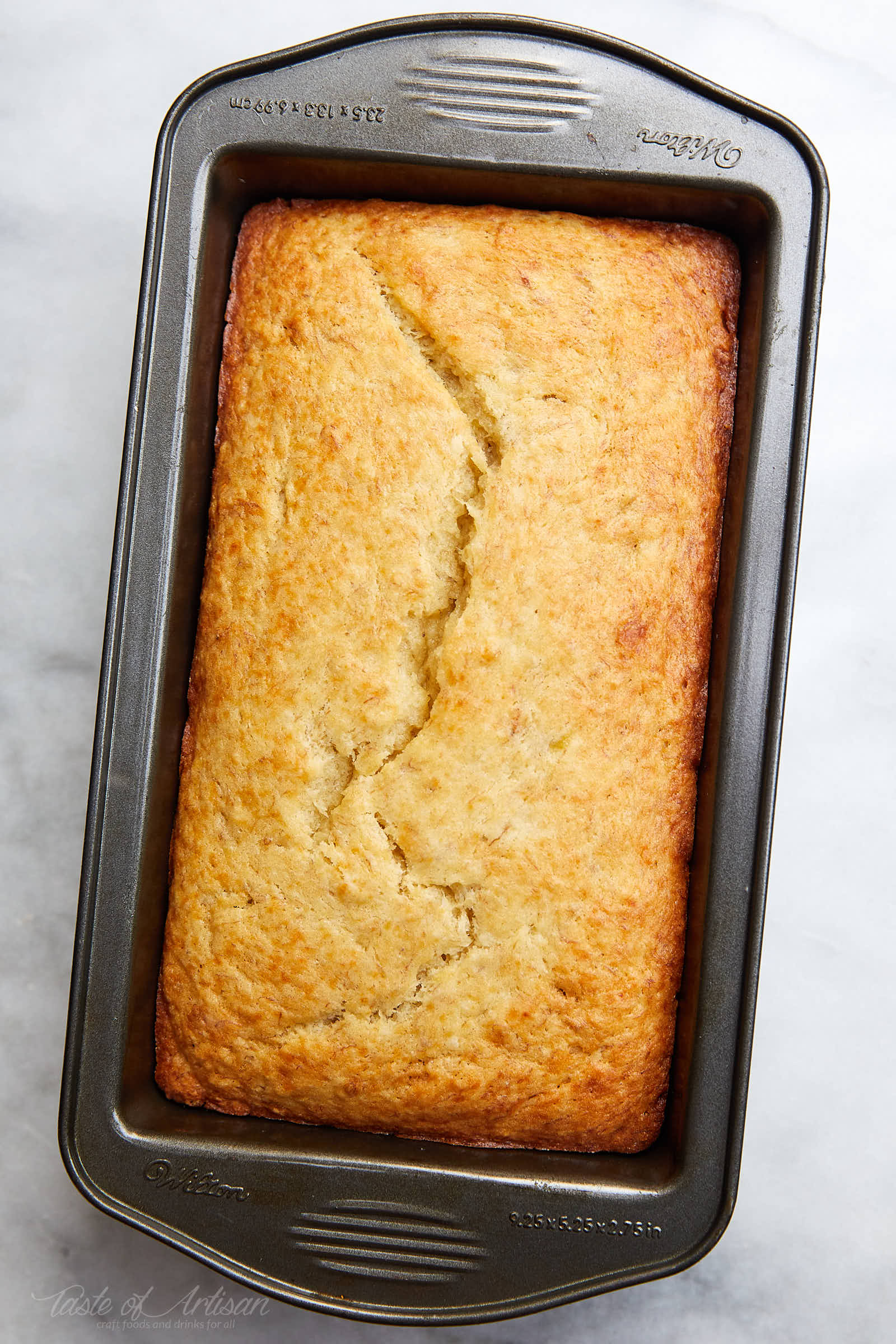 Best tasting Banana Bread ever! No need for a mixer! Delicious, moist and simple classic banana bread recipe. | Taste of Artisan