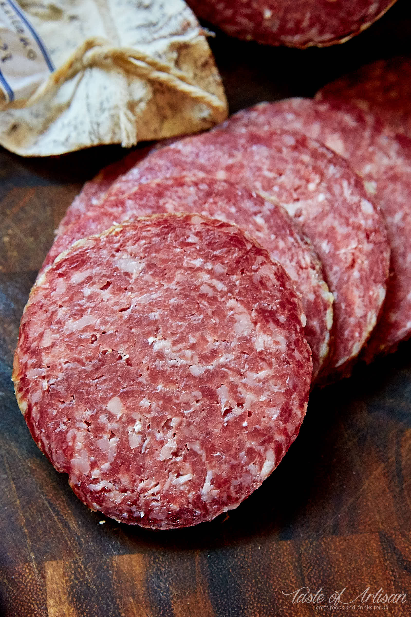 Homemade Milano Salami - Stanley Marianski's recipe for Milano salami, which is essentially the same as Genoa salami. If you are learning how to make salami, this is a good recipe to try. | Taste of Artisan