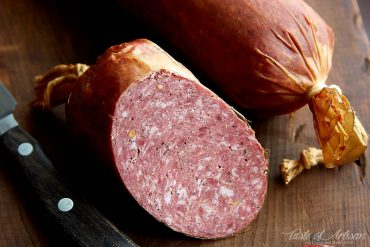 Learn how to make summer sausage at home with these easy to follow illustrated instructions. The best summer sausage recipe.| Taste of Artisan