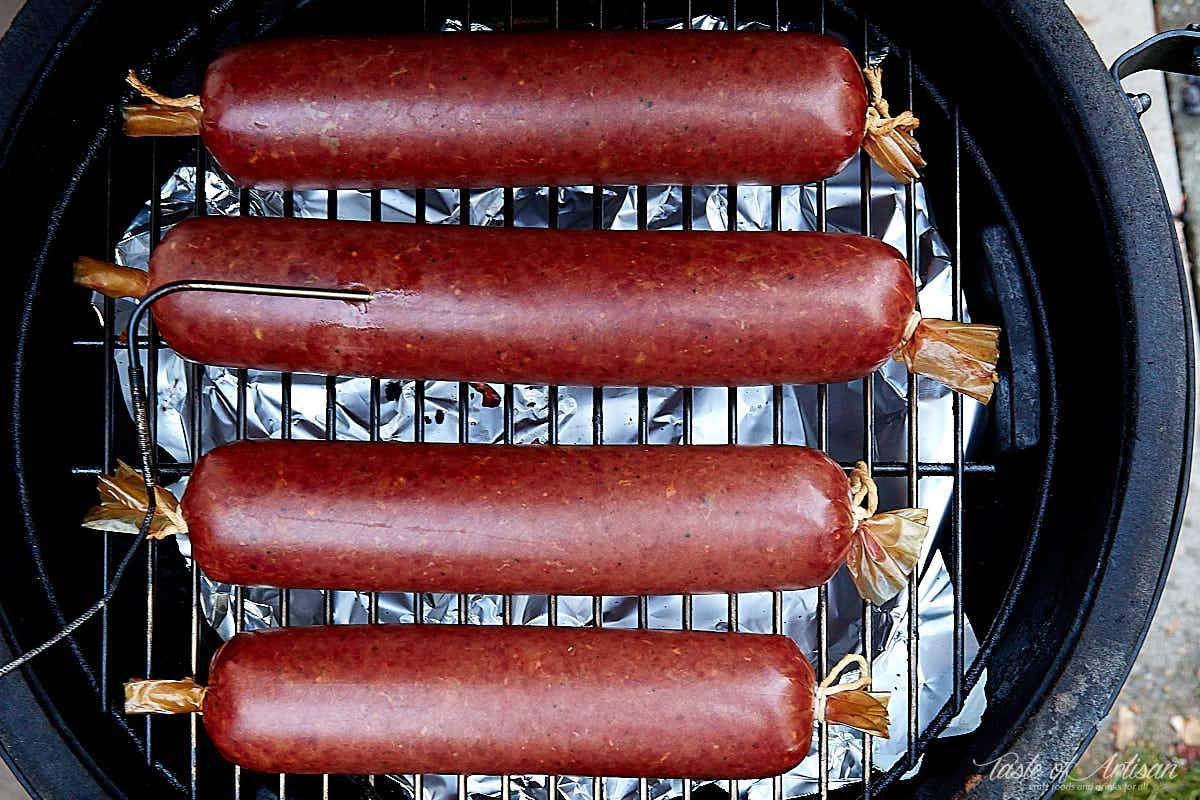 Summer sausage recipe. Finished smoked sausage. | Taste of Artisan