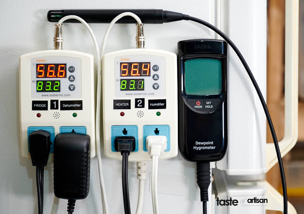 Meat Curing Chamber Controllers and Hanna Hygrometer