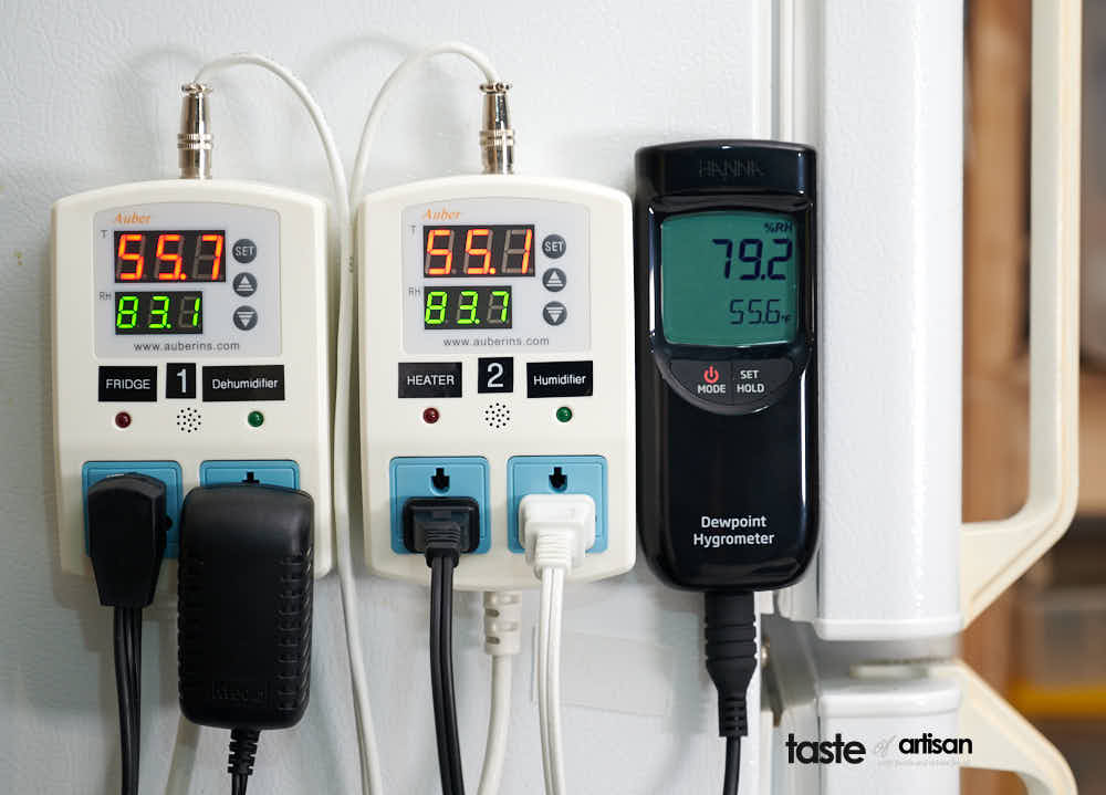 Meat Curing Chamber Controllers and Hanna Hygrometer Humidity variiances