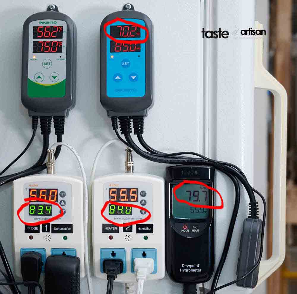 Meat curing chamber Auber vs Inkbird controllers