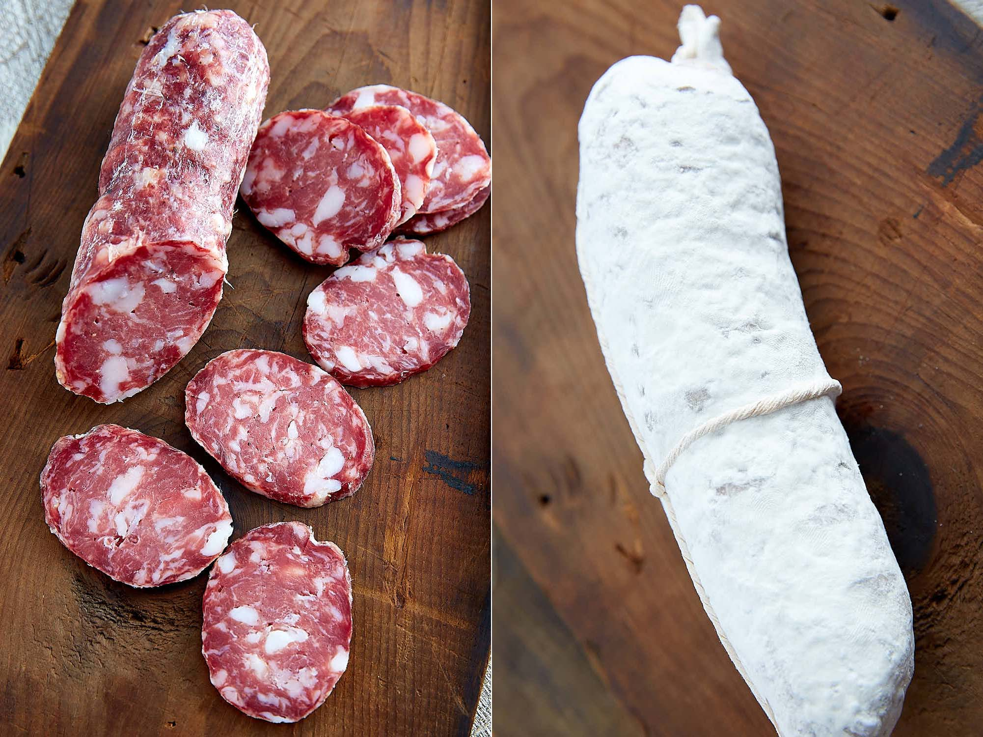 Salami in Home Meat Curing Chamber