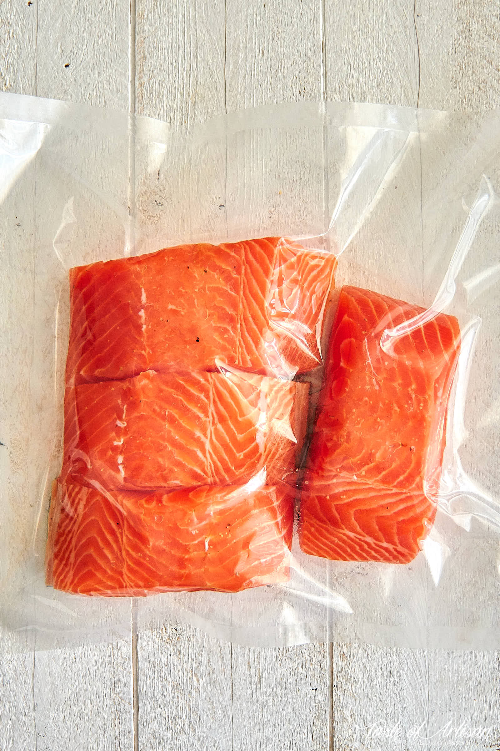Sous Vide Salmon - vacuum sealed and ready for cooking. | Taste of Artisan