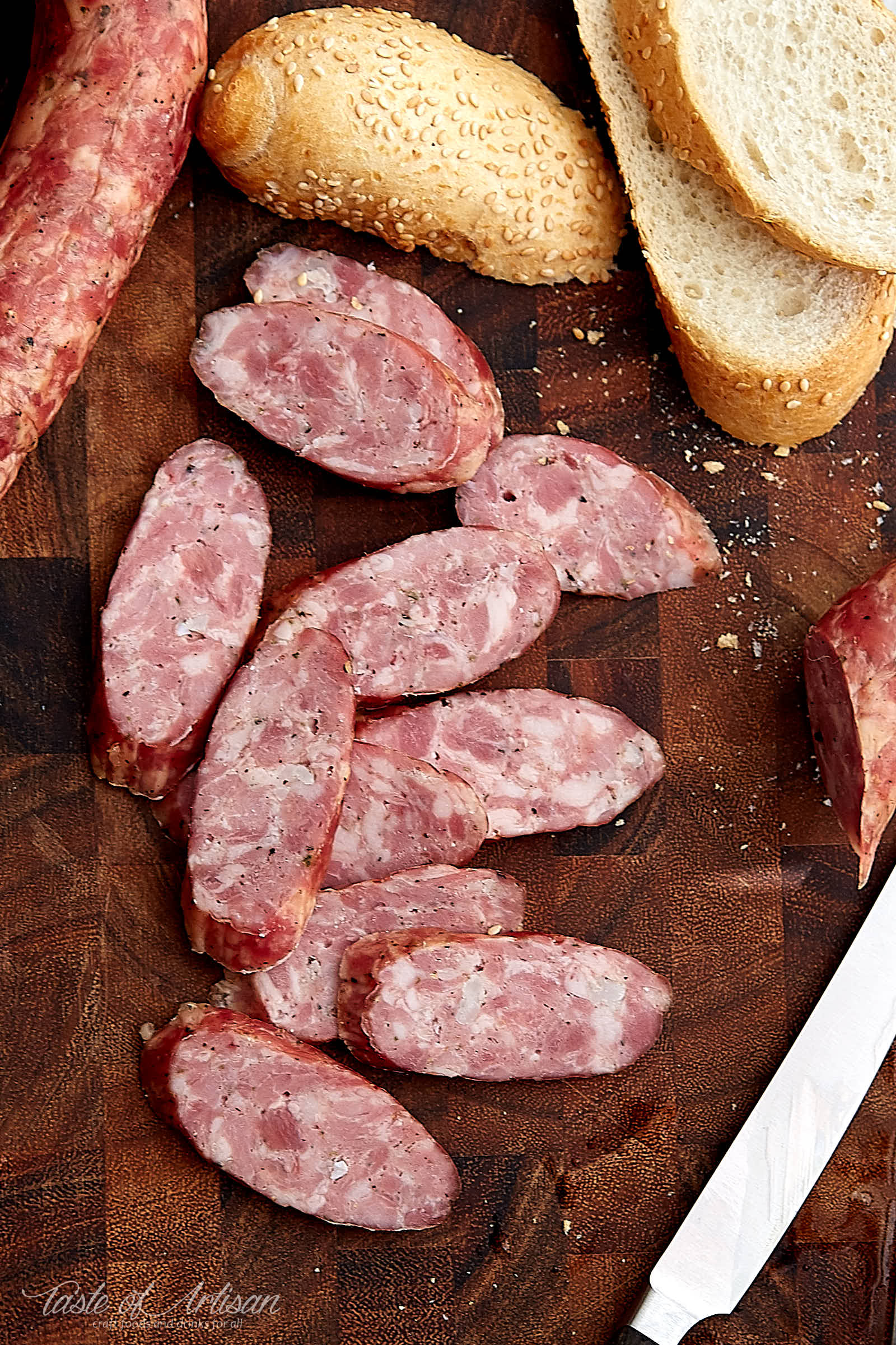 Learn how to make authentic Polish kielbasa (sausage) at home. The name of this kielbasa is Swojska, which means homemade or self-made. It's one of the best and most flavorful Polish sausages.| Taste of Artisan