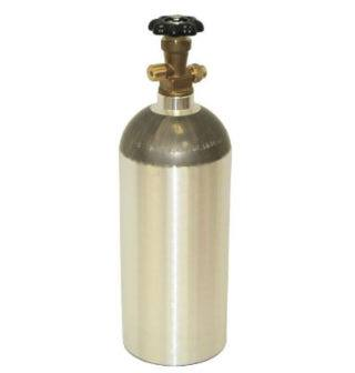 Aluminum CO2 tank.