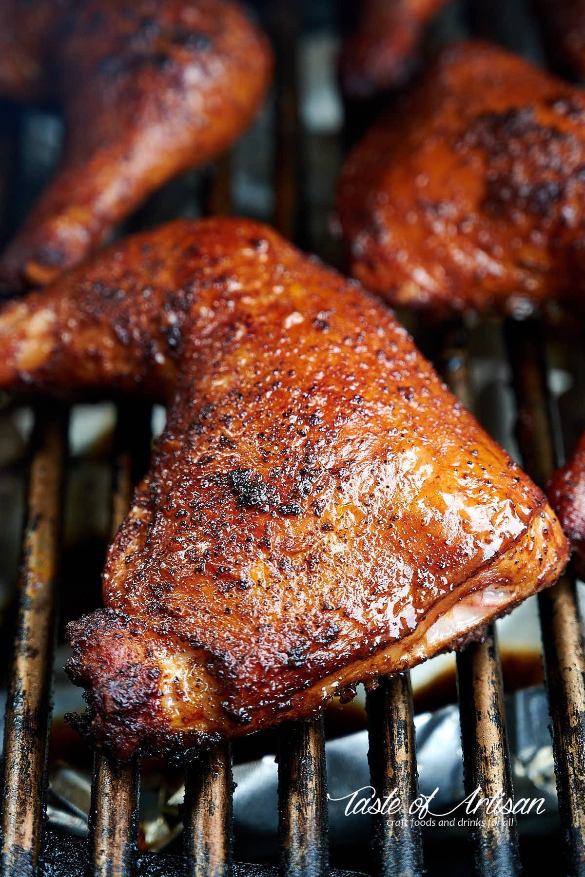 Smoked Chicken Leg Quarters Taste Of Artisan