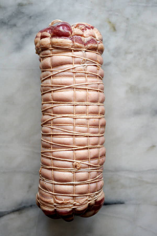 Rolled and tied punchetta