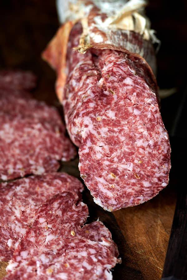 Sliced Fennel salami (Salame Finocchiona)
