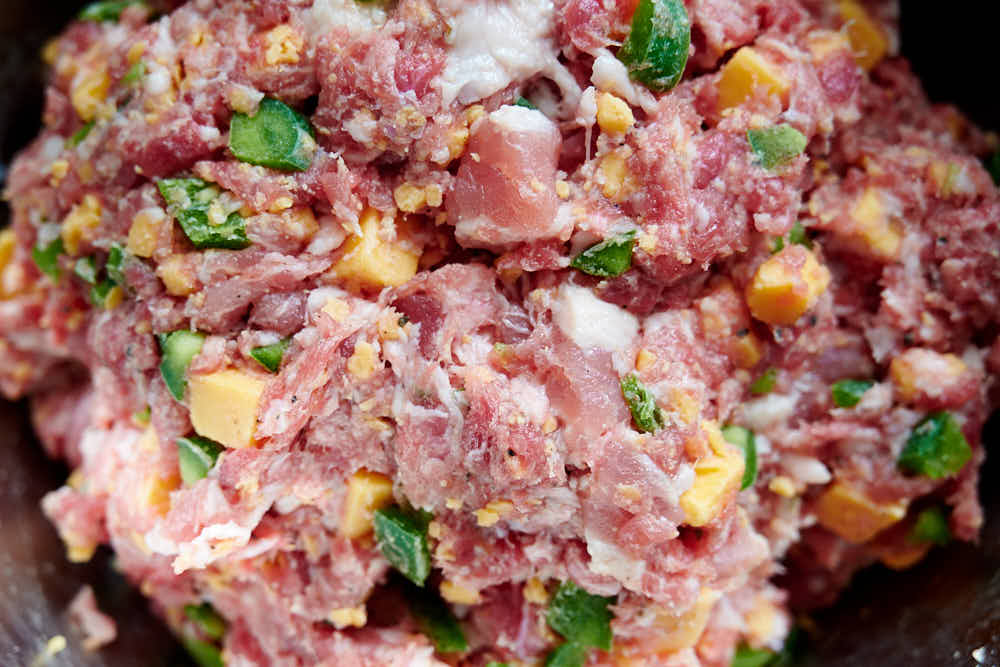 Jalapeno cheddar sausage mix.