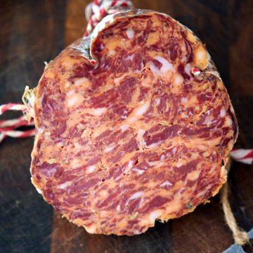 Homemade Calabrese Salami
