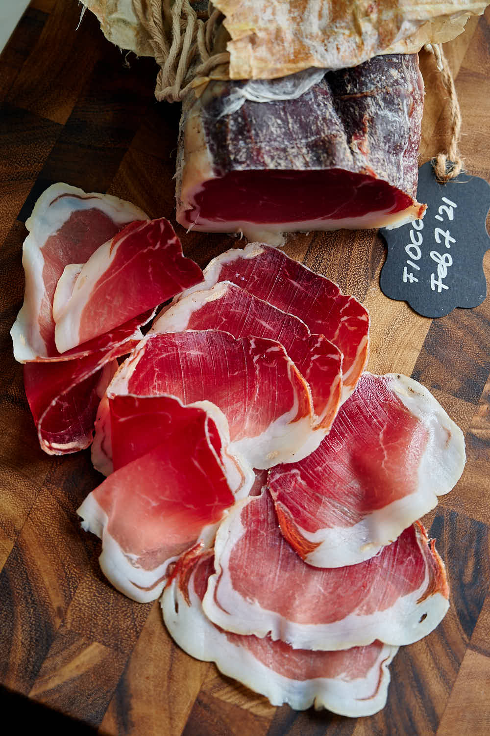 Fiocco - dry-cured ham made at home