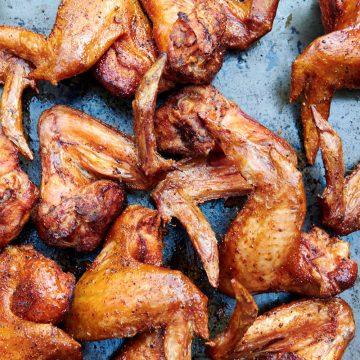 Extra Crispy Smoked Chicken Wings