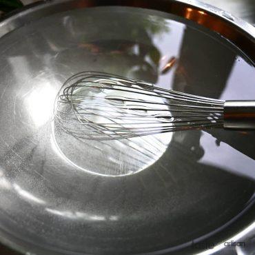 Making pickling brine.